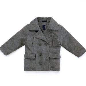 Gap Toddler Pea Puffer Grey Coat Jacket 4T Unisex